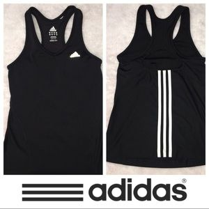 ADIDAS Tank Top Racerback Stripe Back S Small